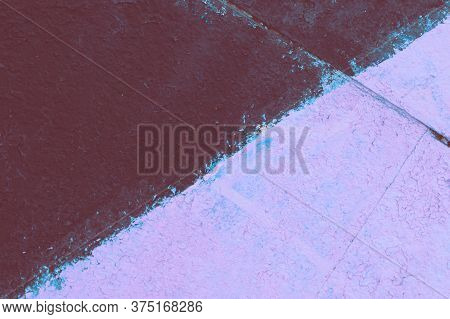 The Old Wall Was Inaccurately Painted In Three Colors