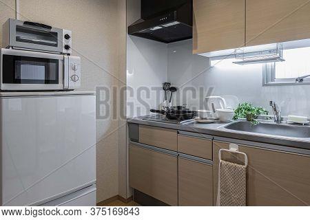Kitchen Corner In The Room At The Condominium