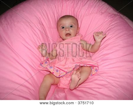Scared Baby In Pink