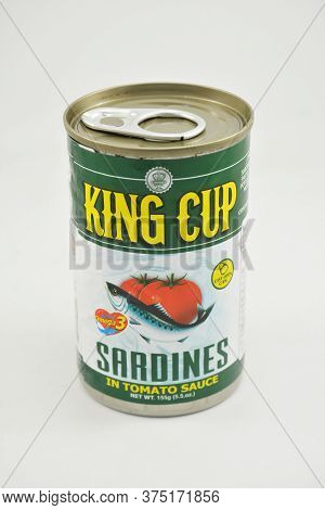 Manila, Ph - June 26 - King Cup Sardines Can On June 26, 2020 In Manila, Philippines.