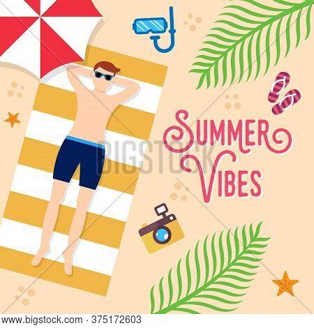 Summer. Summer vector. Summer holiday vector. Summer vector background. Summer vector illustration. Summer holiday design. Summer time. Summer Day vector. Summer Season vector illustration for banner, poster, invitation, party design template.