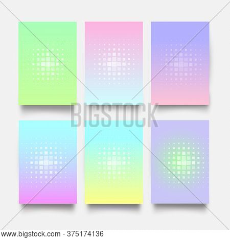 Modern Covers With Pastel Dote .vector Templates. Trendy Minimal Design