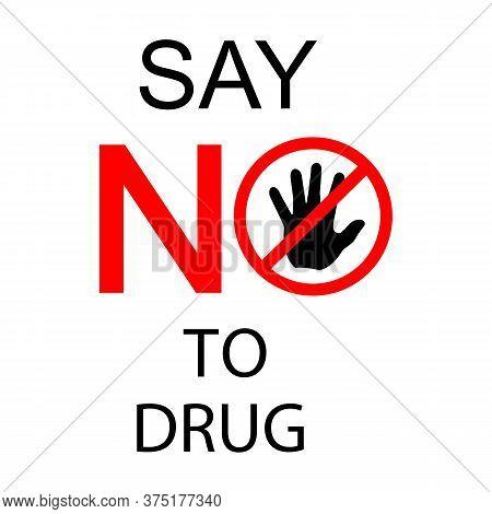 International Day Against Drug Abuse And Illicit Trafficking Concept Illustration Design Template