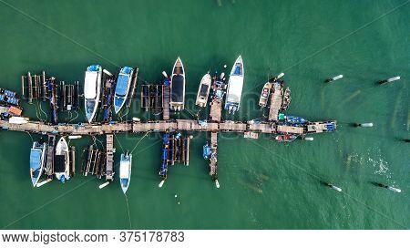 High Angle Of Tourist Pier High Angle Of Tourist Pier