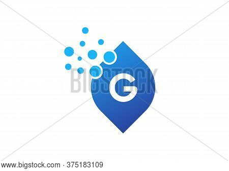 Awesome Letter G Colorful Bubbles Vector. G Letter Logo Design Vector With Dots And Leaf Concept.