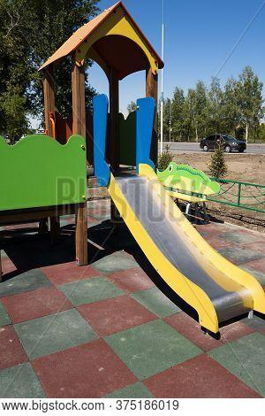 Children's Slide. Play Area. Children's Playground. Kid Zone.
