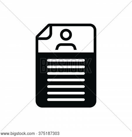 Black Solid Icon For Detail Expansion Elaboration Document Resume
