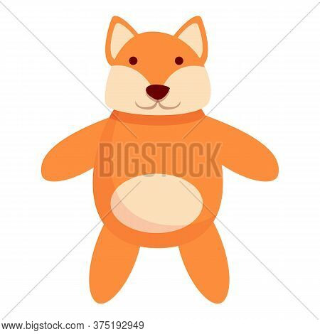 Fox Doll Icon. Cartoon Of Fox Doll Vector Icon For Web Design Isolated On White Background