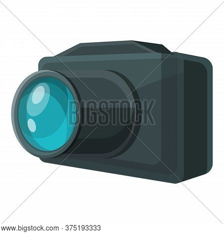 Investigator Camera Icon. Cartoon Of Investigator Camera Vector Icon For Web Design Isolated On Whit