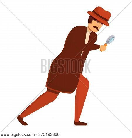 Investigator Research Icon. Cartoon Of Investigator Research Vector Icon For Web Design Isolated On