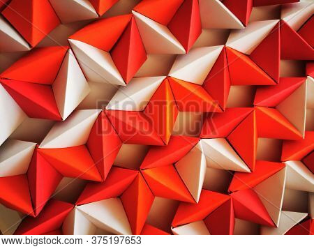 Abstract Geometric Color Texture From Paper As Nice Background