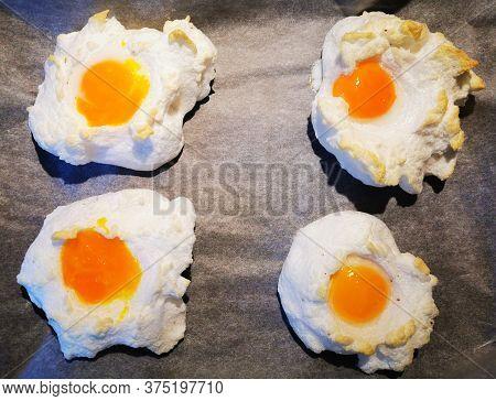Homemade Baked Fresh Eggs As Gourmet Breakfast