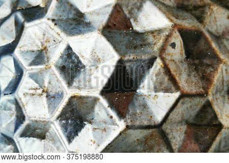 Abstract Metal Hexagon Texture
