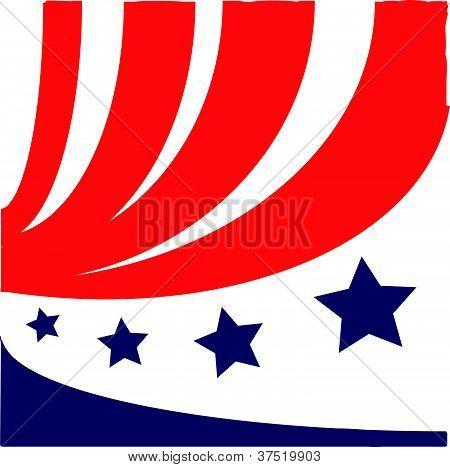 Symbol of flag USA