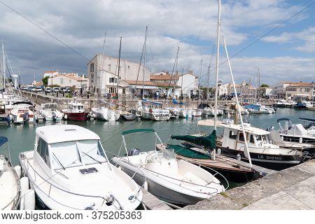 Saint Martin En Re - Ile De Re  Nouvelle Aquitaine / France - 05 03 2019 : Summer Port At Saint Mart