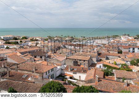 Saint Martin En Re - Ile De Re  Nouvelle Aquitaine / France - 05 03 2019 : Aerial View Of The Saint