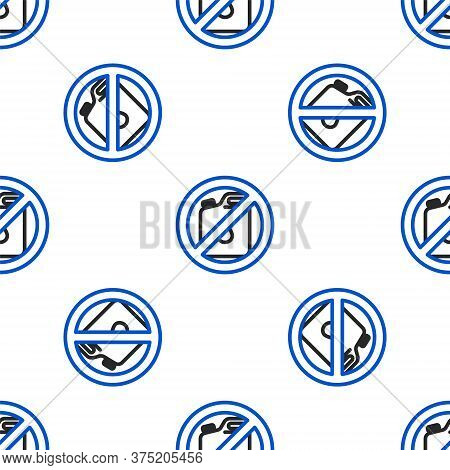 Line No Canister For Gasoline Icon Isolated Seamless Pattern On White Background. Diesel Gas Icon. C