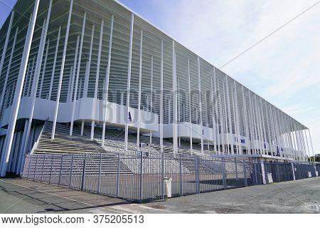 Bordeaux , Aquitaine / France - 10 25 2019 : Matmut Atlantique Stadium In Bordeaux Exterior Soccer F