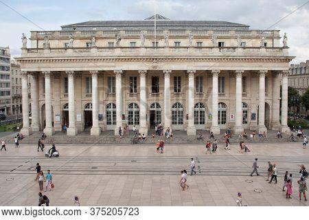 Bordeaux , Aquitaine / France - 11 10 2019 : Bordeaux National Opera Grand Theatre In City Center