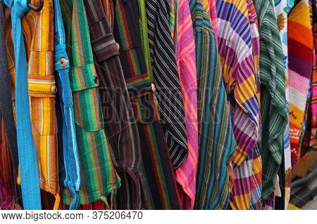 New Color Shirts Texture As Fashion Background