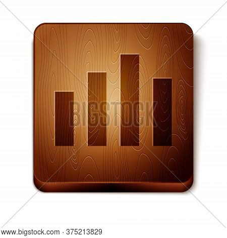 Brown Music Equalizer Icon Isolated On White Background. Sound Wave. Audio Digital Equalizer Technol