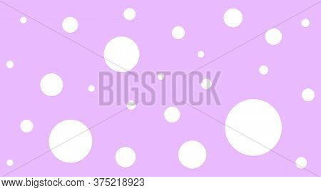 White Polka Dot On Purple Pastel Soft For Background, Polka Dot Pattern Cute, Random Scattered Dot F