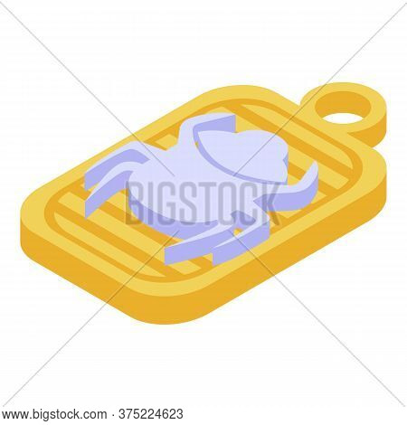 Gold Scarab Medallion Icon. Isometric Of Gold Scarab Medallion Vector Icon For Web Design Isolated O