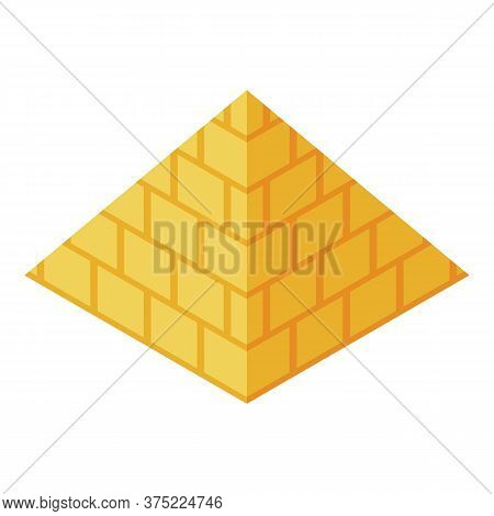 Egypt Pyramide Icon. Isometric Of Egypt Pyramide Vector Icon For Web Design Isolated On White Backgr