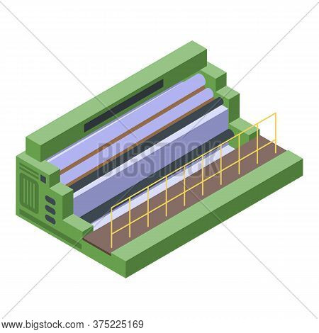 Textile Production Equipment Icon. Isometric Of Textile Production Equipment Vector Icon For Web Des