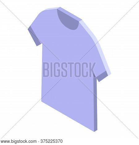 Cotton Tshirt Icon. Isometric Of Cotton Tshirt Vector Icon For Web Design Isolated On White Backgrou