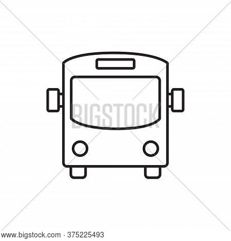 Bus Icon Isolated On White Background. Bus Icon In Trendy Design Style For Web Site And Mobile App.