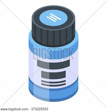 Clothes Paint Jar Icon. Isometric Of Clothes Paint Jar Vector Icon For Web Design Isolated On White