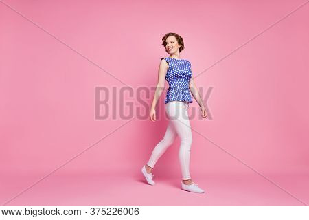Full Length Body Size View Of Her She Nice-looking Attractive Lovely Pretty Charming Cheerful Cheery