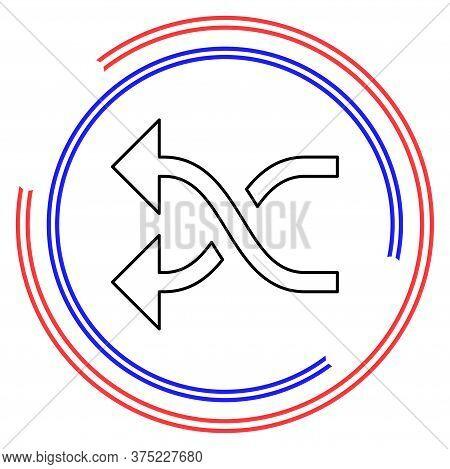 Shuffling Icon, Change Order, Random Sign - Vector Music Symbol, Random Shuffle Symbol - Album Playl