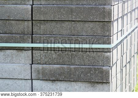 Stack Of Gray Paving Slabs. Construction Of Sidewalks. Building Materials For The Construction Of Th