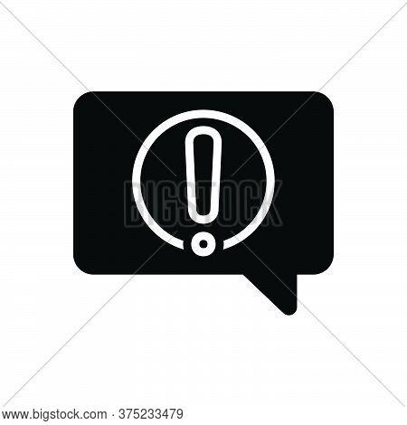 Black Solid Icon For Alert-message Notification Reportage Message Information Conversation Alert