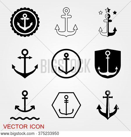 Anchor Icon. Anchored Flat Vector Icon For Apps And Websites