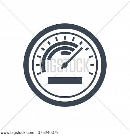 Efficiency Related Vector Glyph Icon. Isolated On White Background. Vector Illustration.