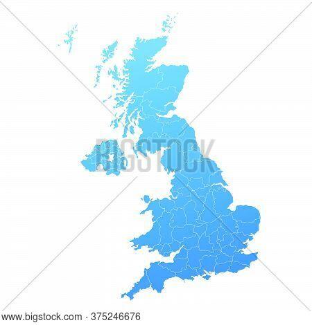 02-map Blue Of United Kingdom