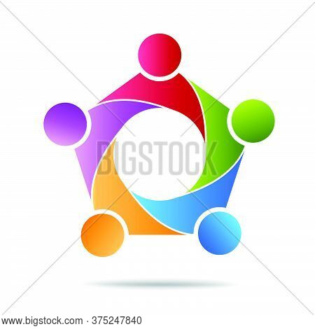 13-community, Support Sign  People Symbol. Vector Illustration