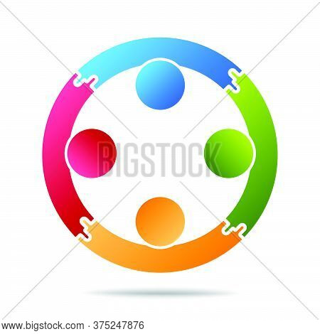07-community, Support Sign  People Symbol. Vector Illustration