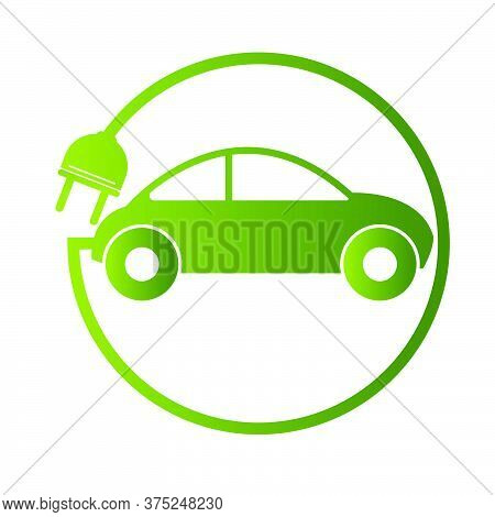 01-electric Car Concept Green Drive Symbol, Vector Illustration