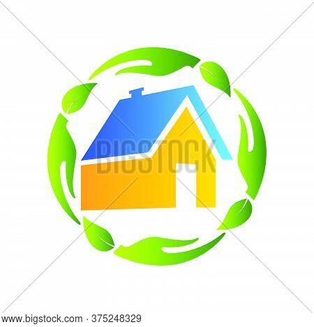 01-real Estate, Eco House Design Vector Template