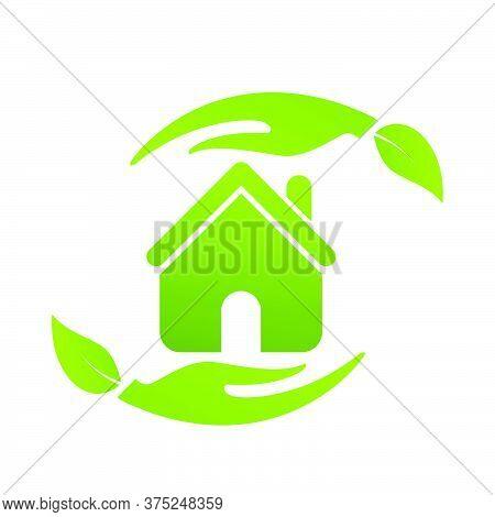06-real Estate, Eco House Design Vector Template