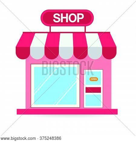 03-store Shop Or Market, Vector  Illustration Background