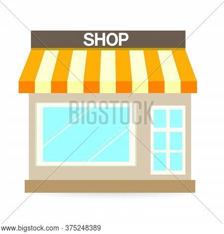 04-store Shop Or Market, Vector  Illustration Background