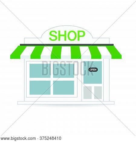 07-store Shop Or Market, Vector  Illustration Background