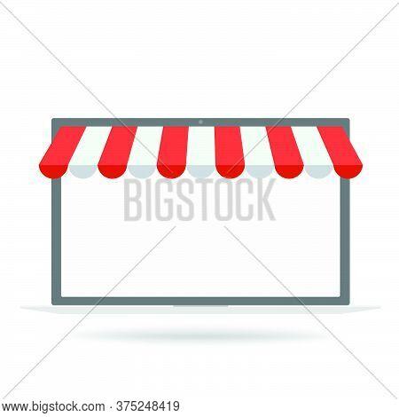 09-store Shop Or Market, Vector  Illustration Background