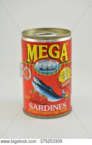 Manila, Ph - June 26 - Mega Sardines In Tomato Sauce With Chili Can On June 26, 2020 In Manila, Phil