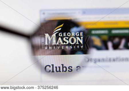 Moscow, Russia - 1 June 2020: George Mason University Website Page In Browser. Logo Close-up, Illust